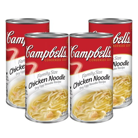 (3 Pack) Campbell's Condensed Family Size Chicken Noodle Soup, 22.4 oz.