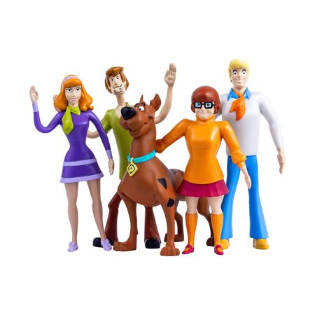 NJ Croce Scooby-Doo 5pc. Bendable Figure Set with Scooby-Doo, Shaggy, Daphne, Velma and Fred](Velma Scooby)
