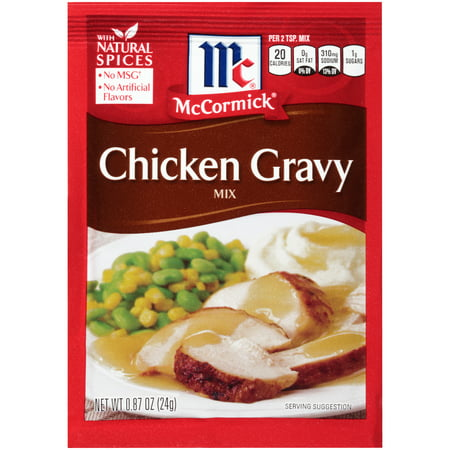 (4 Pack) McCormick Chicken Gravy Mix, 0.87 oz