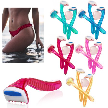 6 Pack Womens Bikini Line Razors Shave Brazilian Hair Shaver Trimmer Legs Arms (Best Rated Bikini Trimmer)