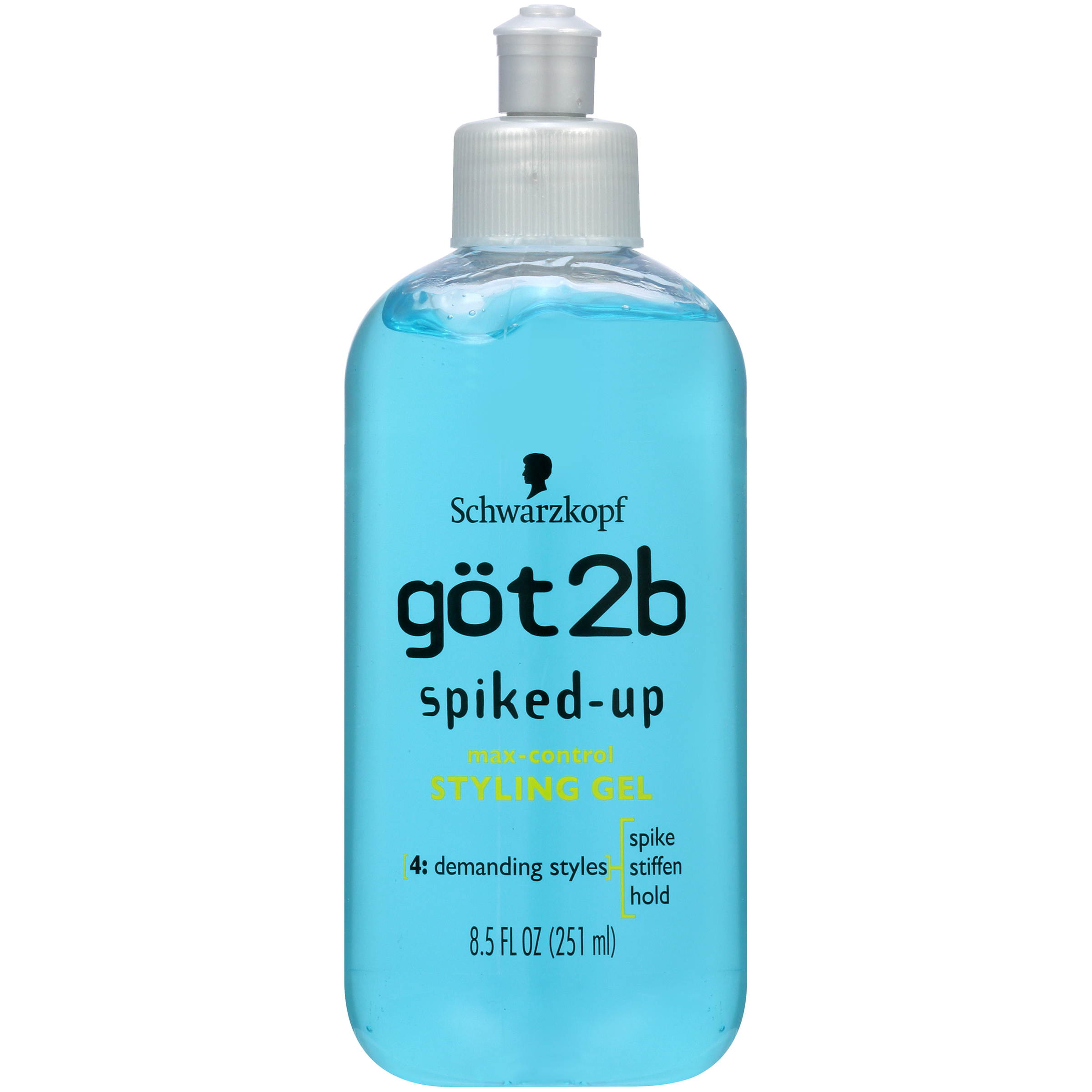 Got2B Spiked Up Styling Hair Gel, Max Control, 8.5 Ounce