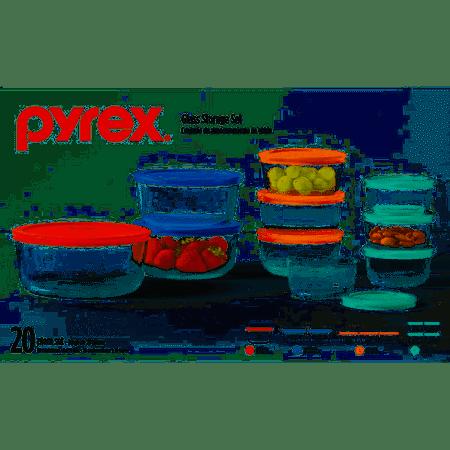 Pyrex 20-Piece Glass Storage