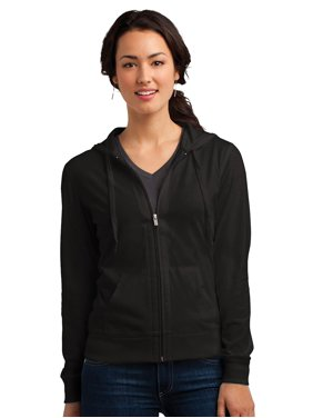 a04b65394 Product Image District Women's Lightweight Full-Zip Drawstring Hoodie