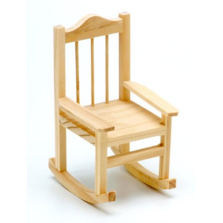 Wood Rocking Chair - Unfinished - 3.15 X 3.5 X 5.5 Inches (Unfinished Wood Childrens Rocker)