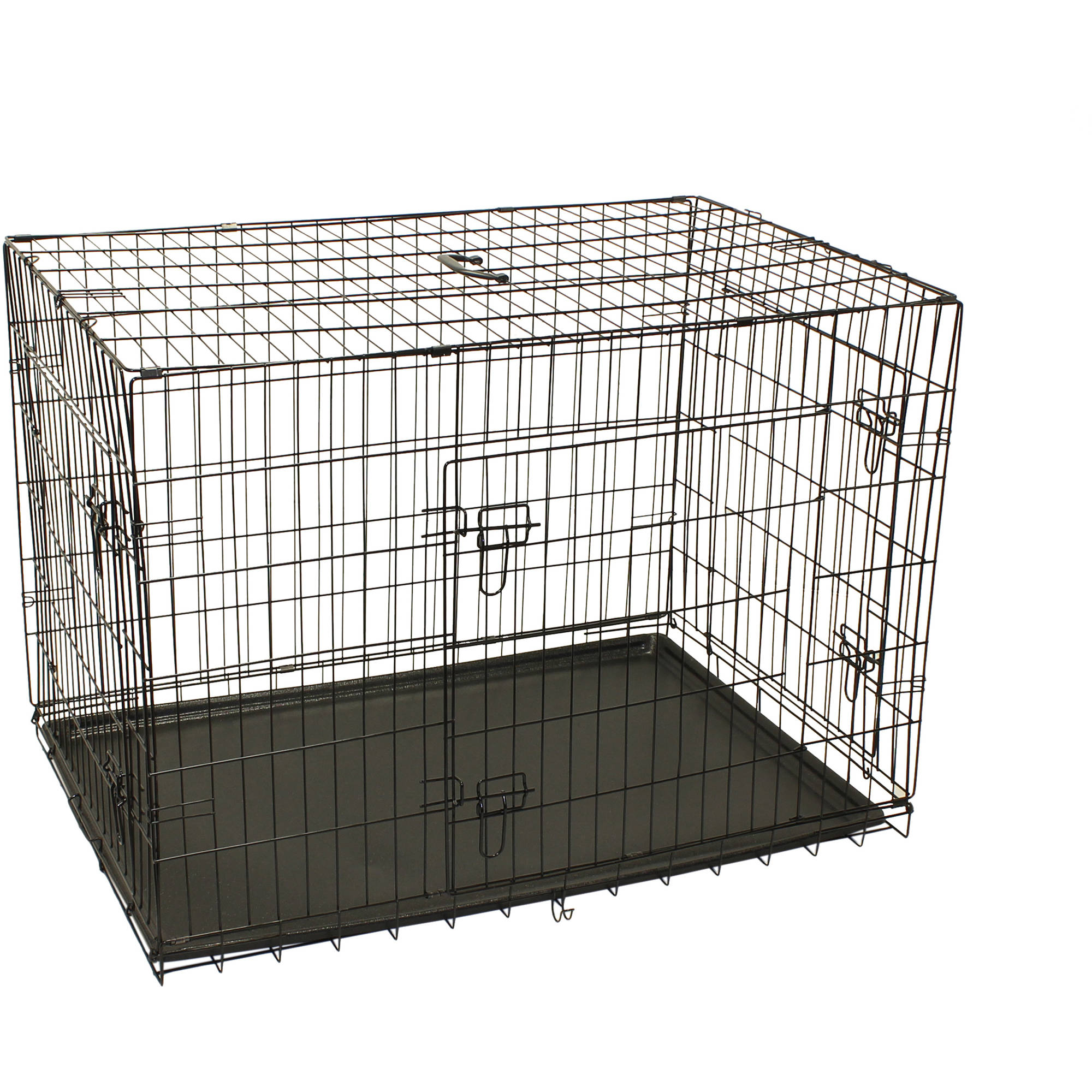 Aleko SDC-3D-42B 3-Door Dog Crate Cage