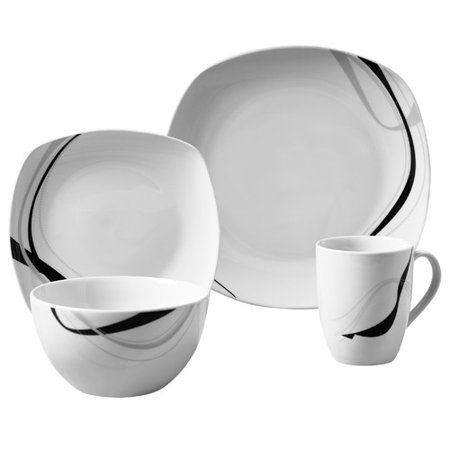 Tabletops Gallery Carnival 16 Piece Dinnerware Set, Service for 4 ...