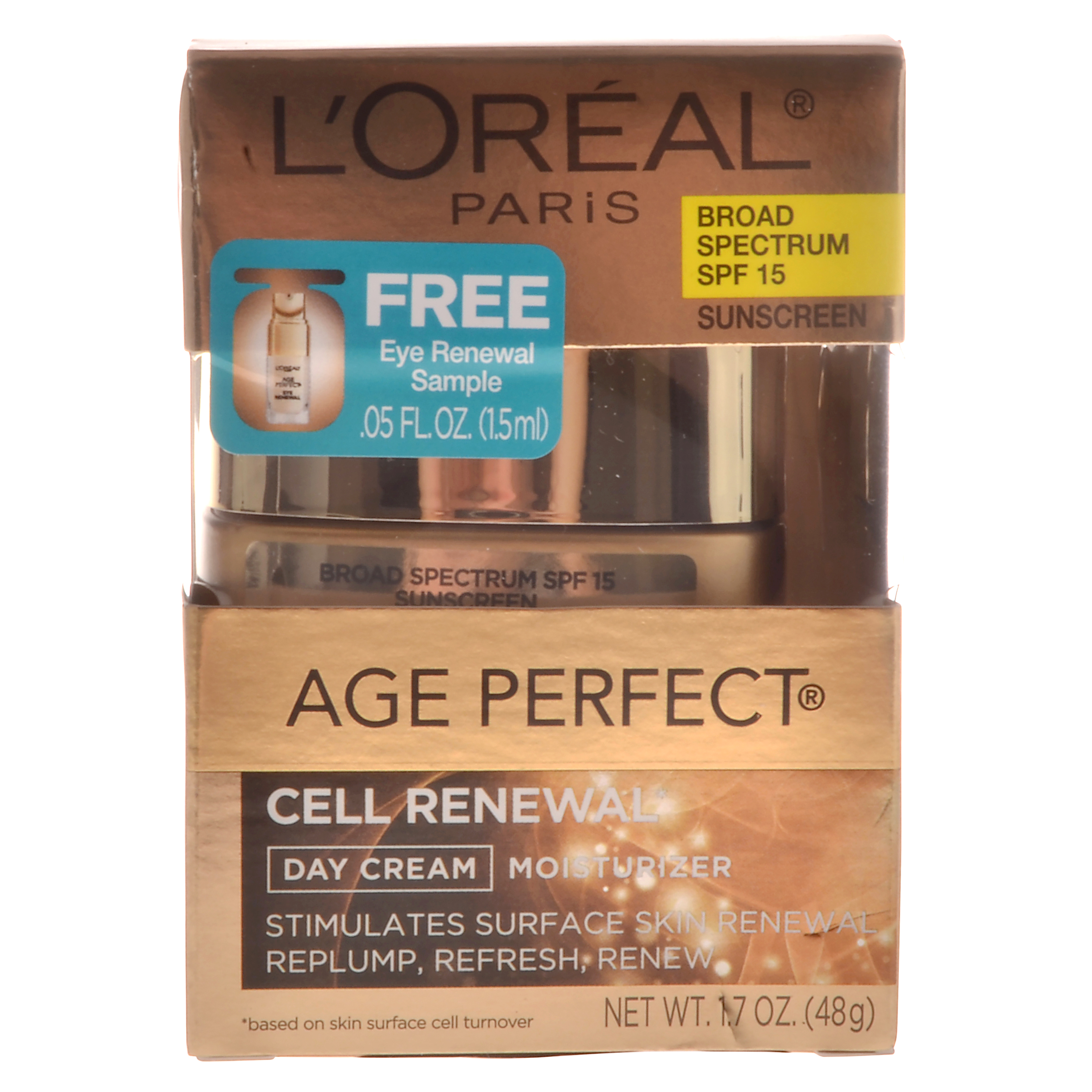 L'Oreal Paris Age Perfect Cell Renewal Day Cream Broad Spectrum SPF 15 Sunscreen, 1.7 oz.