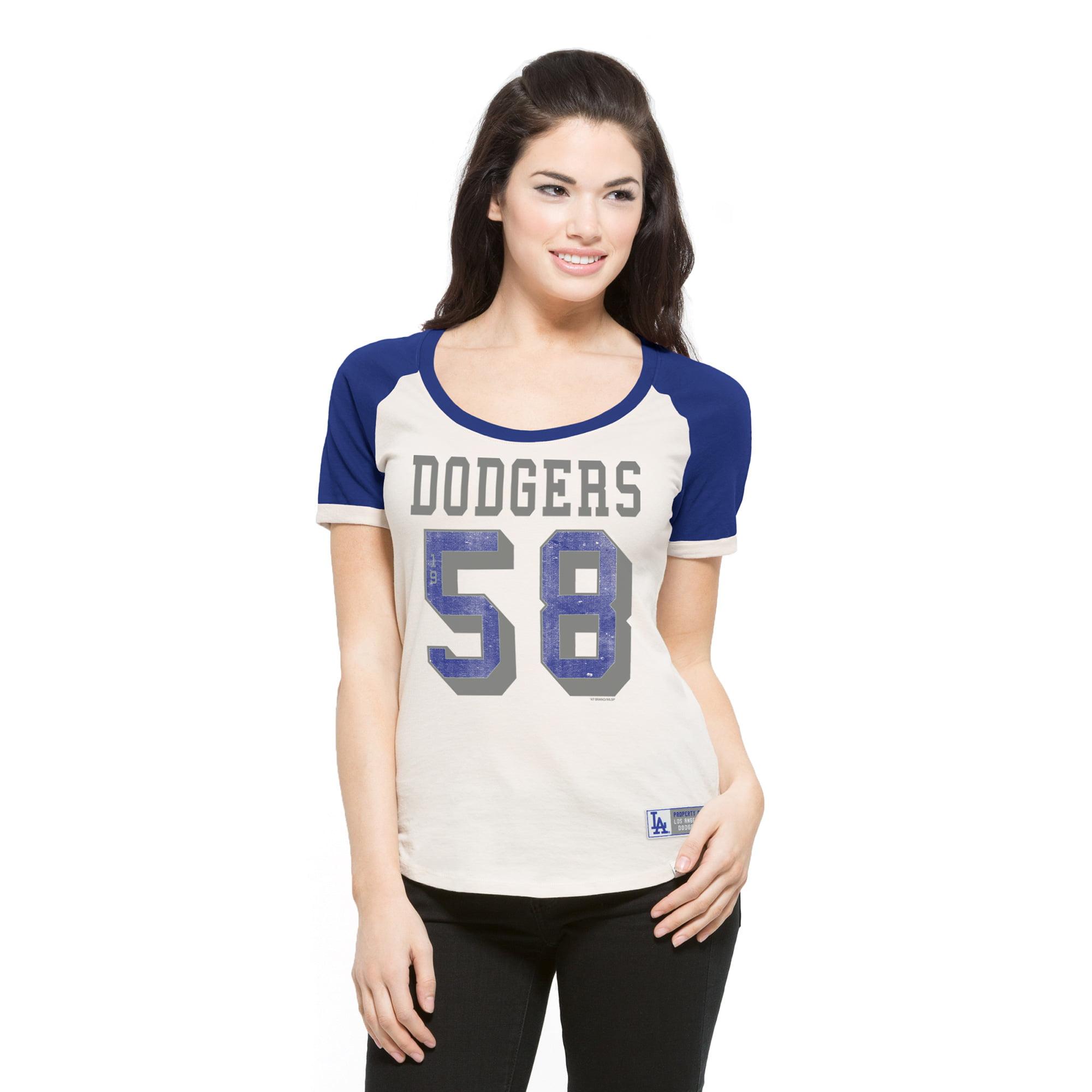 Los Angeles Dodgers '47 Women's Triple Play Scoop T-Shirt - Cream