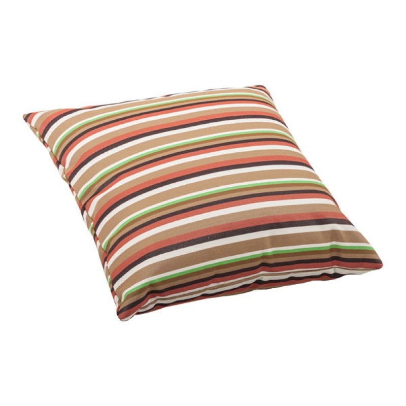 Large Multistripe Outdoor Beach Pillows Square Foam Patio Outdoor Pillows