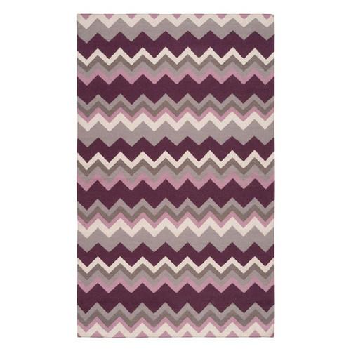 Surya Frontier Prune Purple/Flint Gray Chevron Area Rug