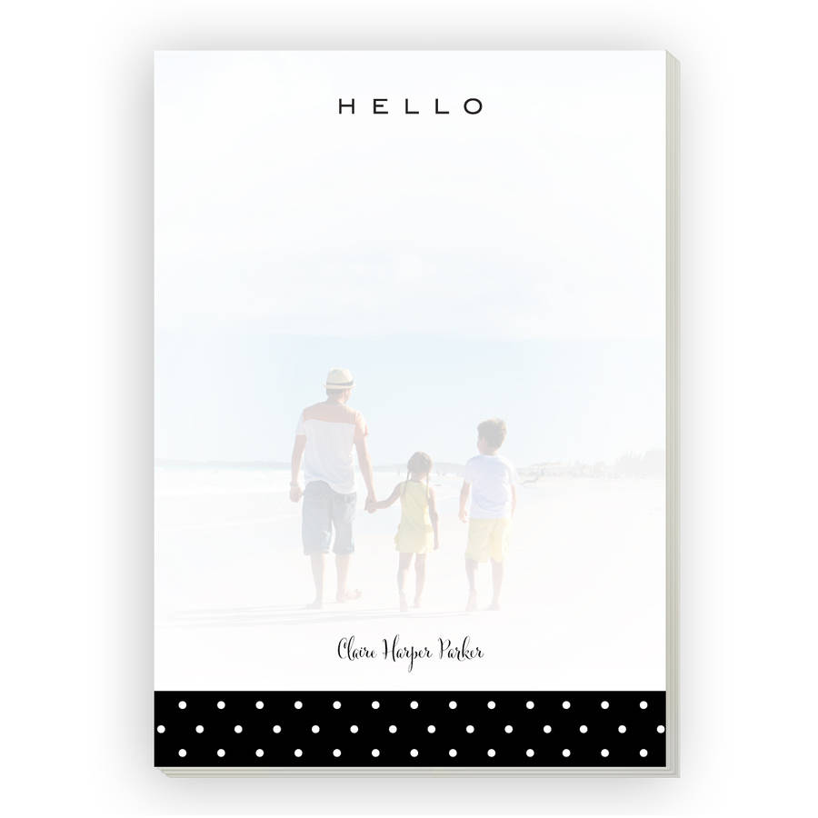 Dotted Personalized Notepad