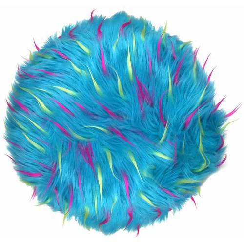 your zone round spiker pillow, blue