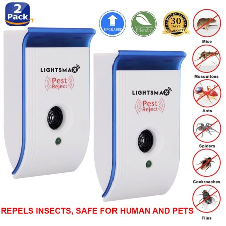2018 UPGRADED Ultrasonic Pest Control Repeller - Eletronic Pest Repellent Plug In - Insect Repellent - Repels Mouse, Bedbug, Roaches, Ants - Non-toxic Eco-friendly, Humans / Pets Safe