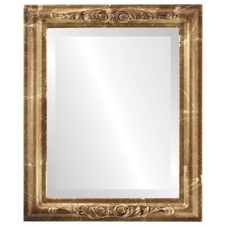 The Oval and Round Mirror Store Florence Framed Rectangle Mirror in Champagne Gold - Antique Gold - Florence Antique Mall