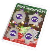 LinksWalker LW-CO3-TCU-ORN4PK Texas Christian Horned Frogs-Ornament Gift Pack