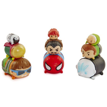 Marvel Tsum Tsum 9-Pack Figures - Elctro, Doc Ock,Spider-Man,Mysterio,Kraven,Sandman, Anti-Venom, MJ Watson & Vulture