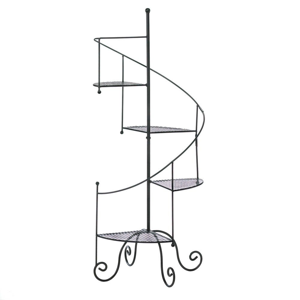 Plant Stand, Decorative Indoor Corner Tiered Spiral Showcase Metal Plant Stands by Summerfield Terrace