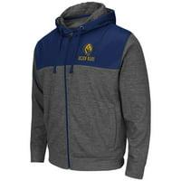 "California Golden Bears NCAA ""Tread"" Full Zip Hooded Men's Sweatshirt - Charcoal"