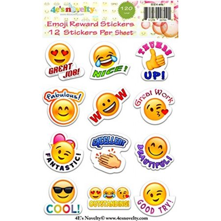 120 Emoji Reward Stickers Great For Teachers 4Es Novelty