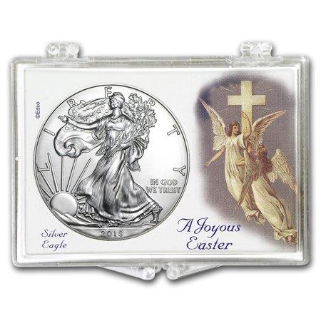 2018 1 oz Silver Eagle BU (Easter Angels, Snap-Lock)