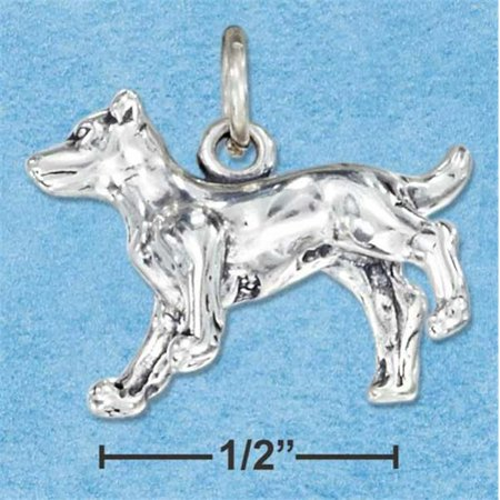 Sterling Silver Three Dimensional Jack Russell Terrier Dog Charm