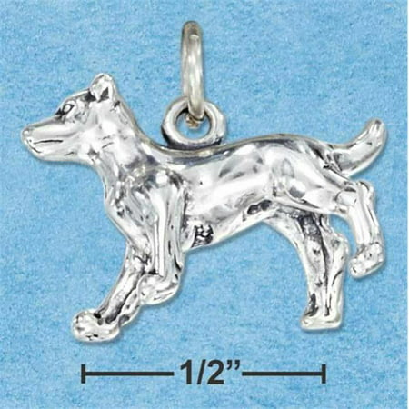 Sterling Silver Three Dimensional Jack Russell Terrier Dog Charm Greyhound Dog Charm