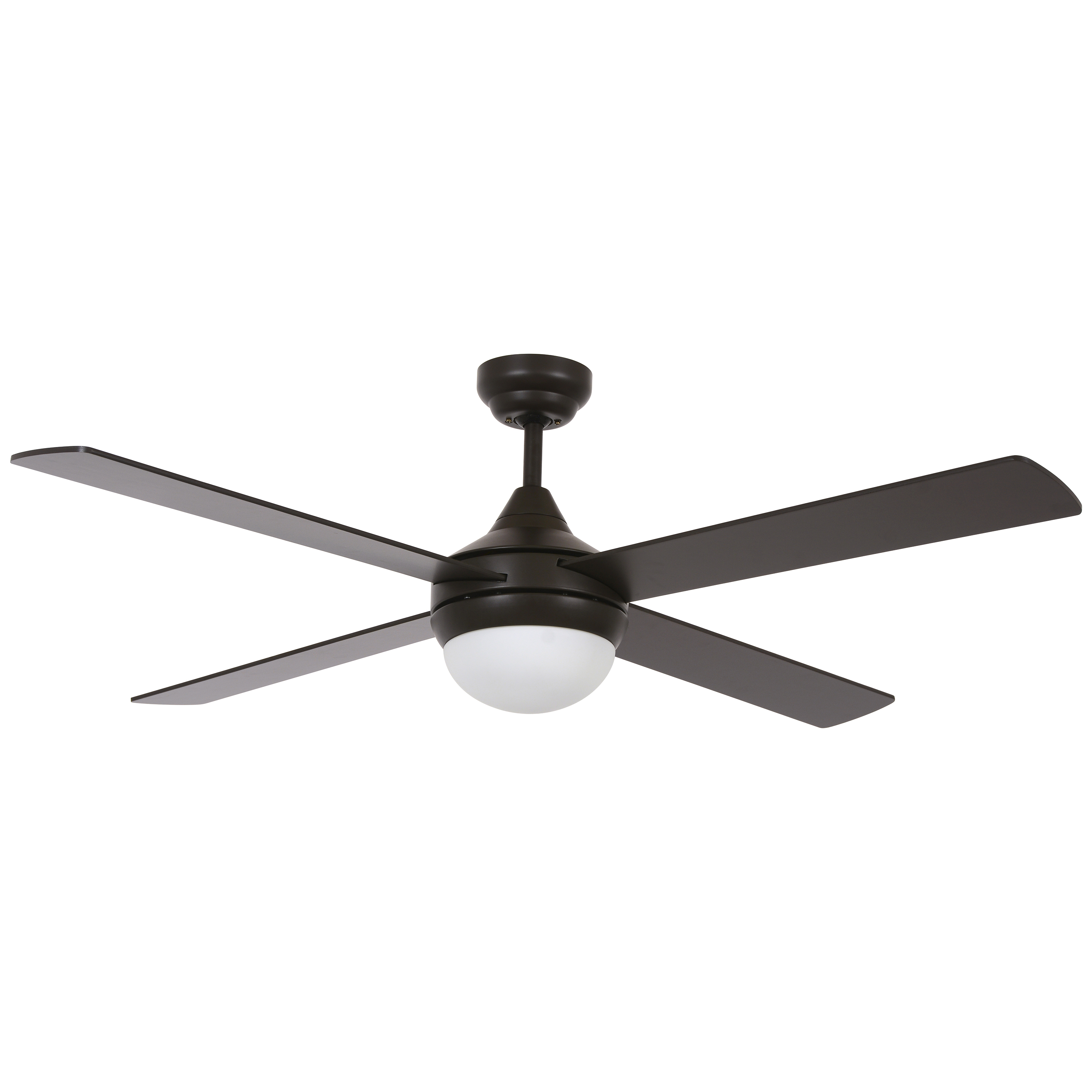 Covert 64-in Aged Bronze Finish LED Indoor//Outdoor Ceiling Fan Light Kit Remote