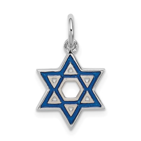 925 Sterling Silver Enameled Blue Jewish Jewelry Star Of David Pendant Charm Necklace Religious Judaica Gifts For Women For Her