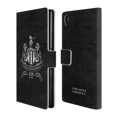 OFFICIAL NEWCASTLE UNITED FC NUFC 2017/18 CREST & PATTERNS LEATHER BOOK WALLET CASE COVER FOR SONY PHONES 2