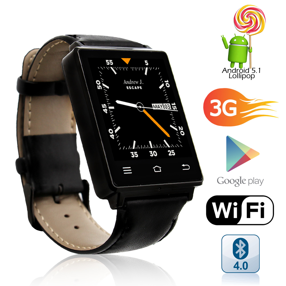 inDigi NEW 2017 Android 5.1 OS Watch & 3G Unlocked Phone ...