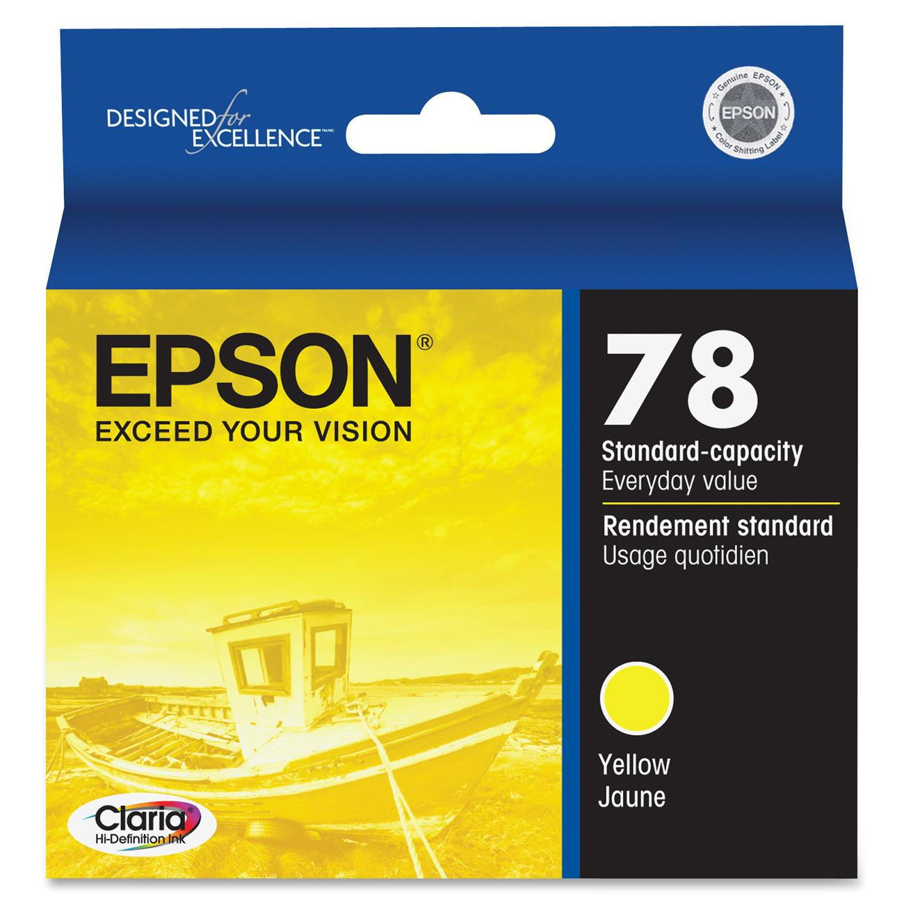 Epson, EPST078420, T078120/220/320/420/520/620 Ink Cartridges, 1 Each