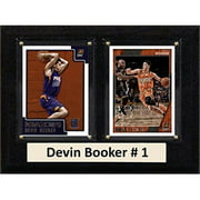 "C & I Collectables NBA 6"" x 8"" Devin Booker Phoenix Suns 2 Card Plaque"