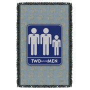 Two And A Half Men Men Woven Throw  White One Size