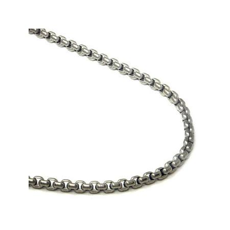 Titanium 4MM Box Chain Link Necklace 18
