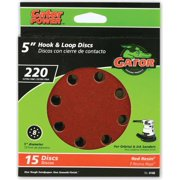 GATOR FINISHING 4140 8hole Hk/Loop 220grit 5in