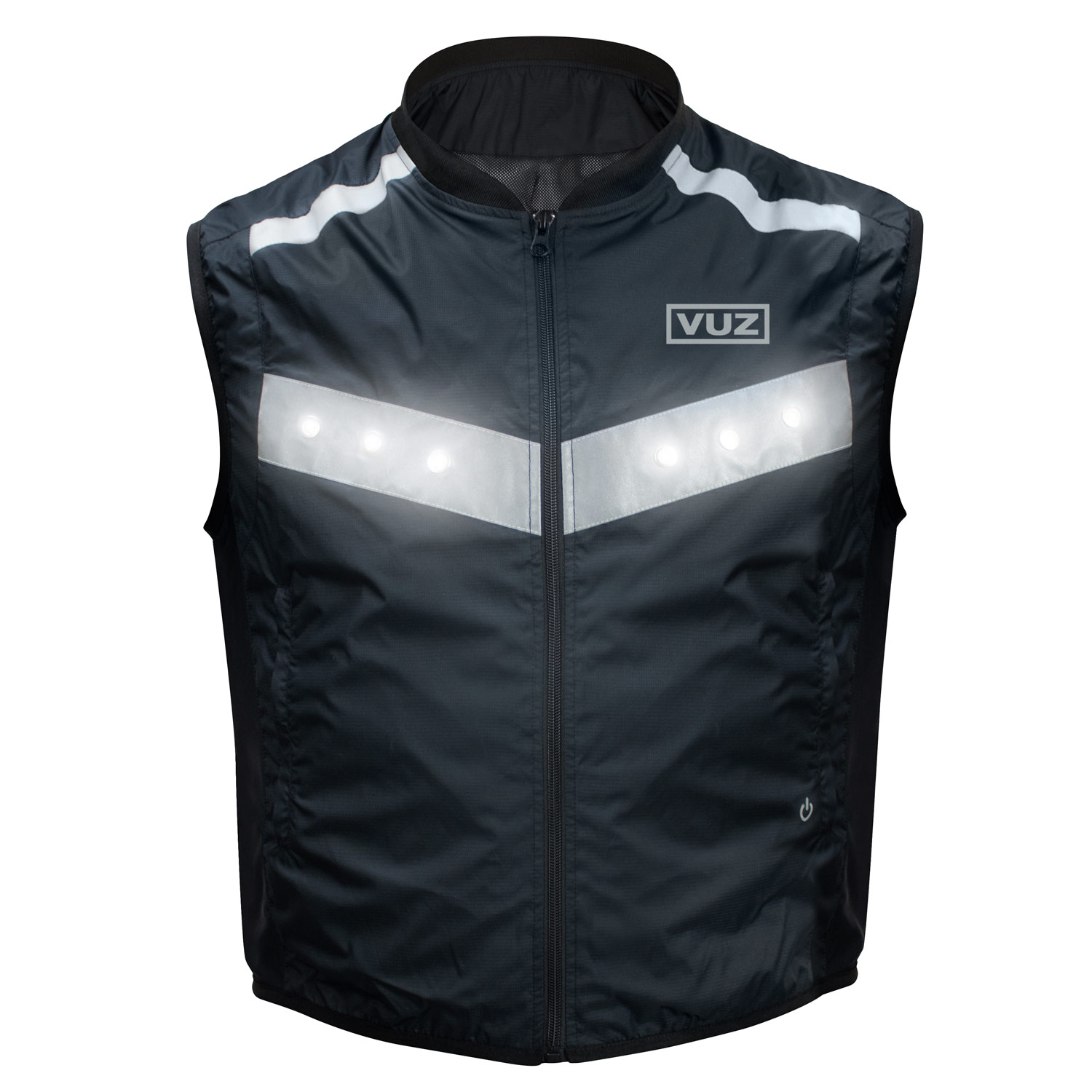 VUZ Moto LED Safety Vest | Reflective Motorcycle Vest | Rechargeable 8hr Battery | Waterproof | LARGE