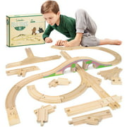 Conductor Carl Wooden Bulk Booster Pack (42 Pieces) Play Train Set
