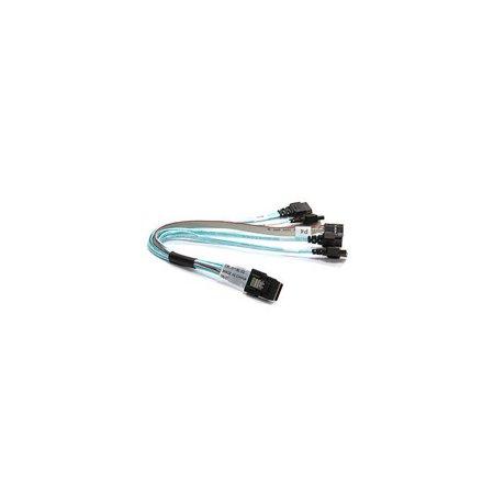 Supermicro Cbl 0118L 02 23Cm Ipass To 4X Sata Internal Cable W  25 5Cm Sb