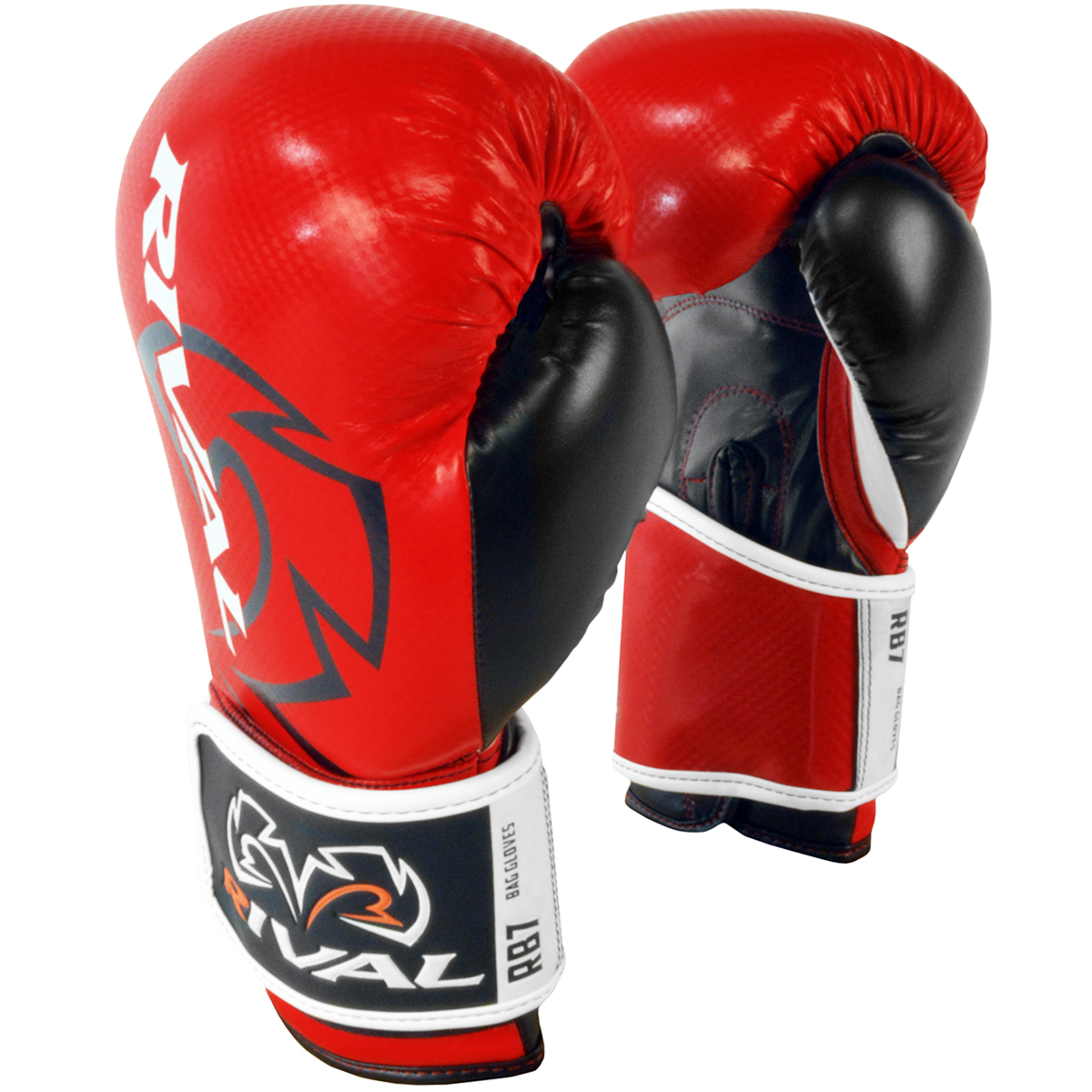 Hook and Loop Bag Gloves Blue//Red//White Rival Boxing RB7 Fitness