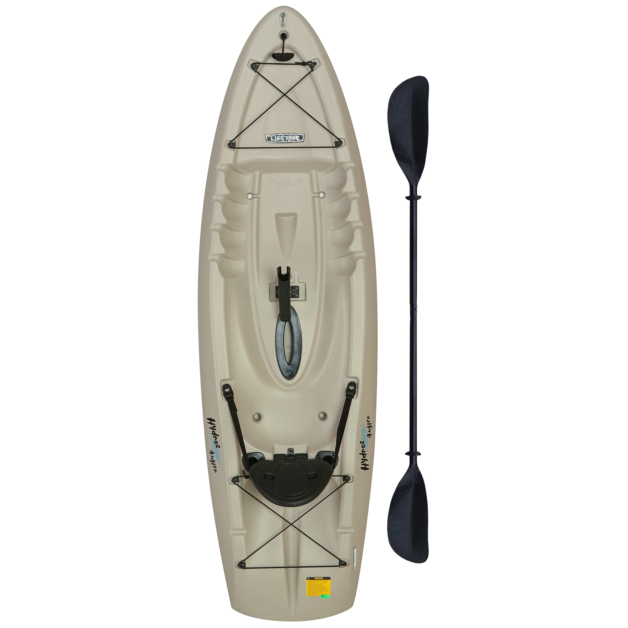 Lifetime Hydros Angler 8 Feet Sit-On Fishing Kayak with Paddle