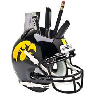 Iowa Hawkeyes NCAA Football Schutt Mini Helmet Desk Caddy