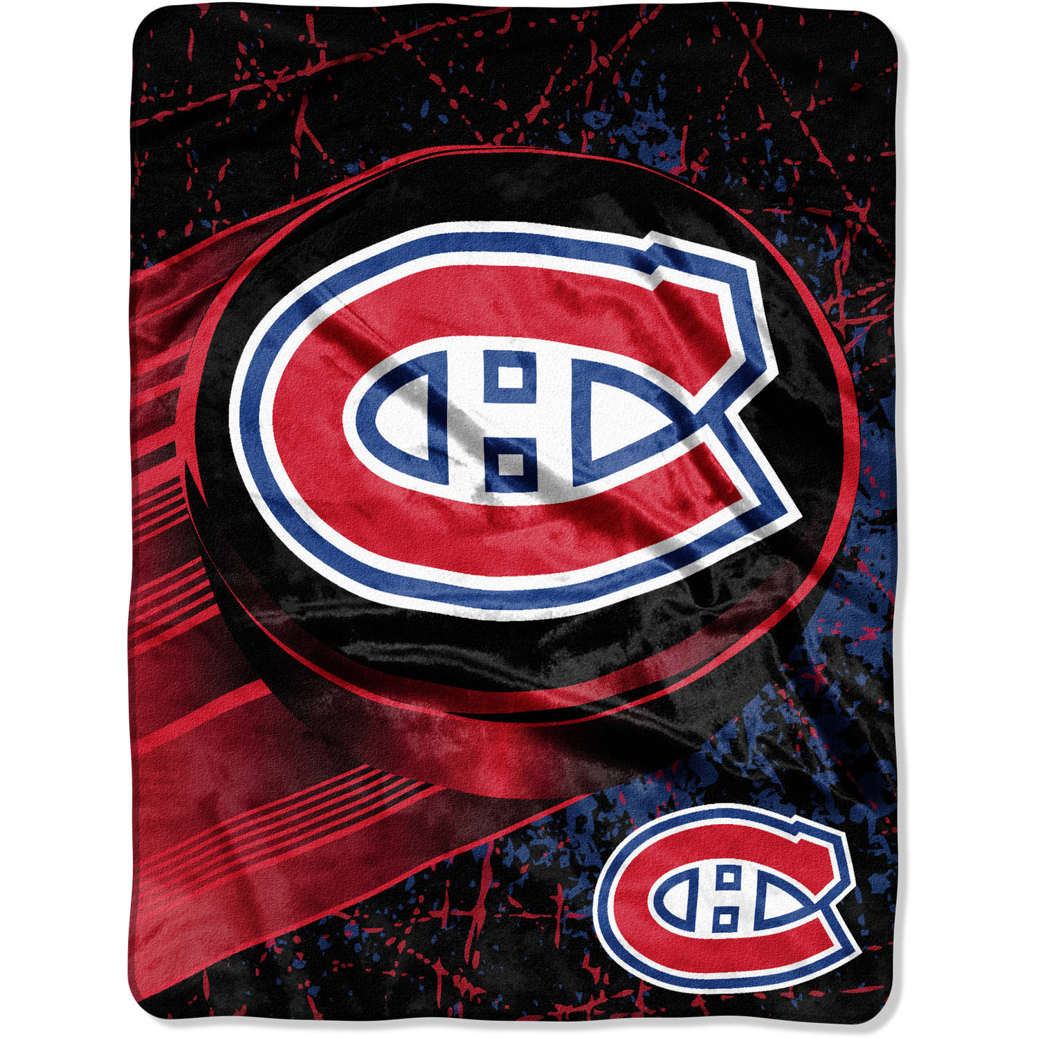 "NHL Montreal Canadiens ""Ice Dash"" 46"" x 60"" Micro Raschel Throw"