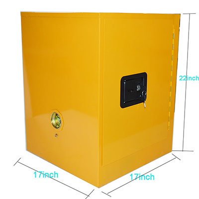 Techtongda 4 Gal.Steel Yellow Safety Fireproof Flammable Cabinet Storage Liquid Cabinet