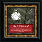 Clock-Framed Table-Legacy Of Time/God Be With You Dad