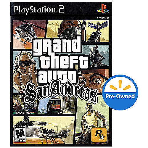 Grand Theft Auto San Andreas (PS2) - Pre-Owned