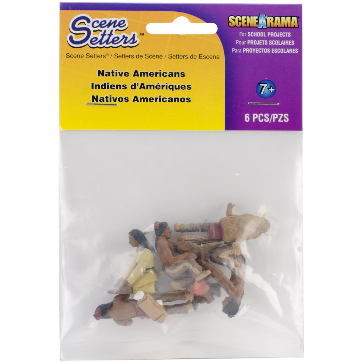 Native American Figurines 6/pkg