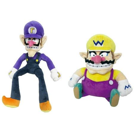 Studded Star (Little Buddy Set of 2 Super Mario All Star 1422 Waluigi & 1421 Wario Stuffed Plush Dolls )