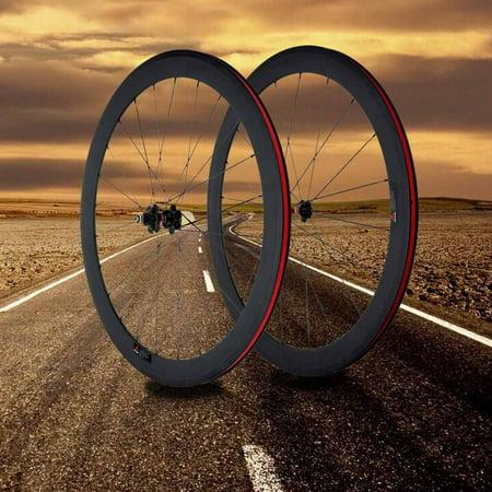 3K Full Carbon Matt 700C Road Bike Bicycle Wheelsets 50mm Clincher Rim+Spokes+Hub+Quick Release Lever Skewers+Brake