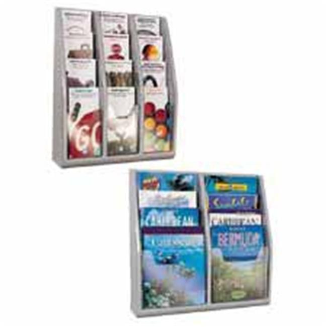 Deflect-O Corporation DEF52209 Magazine Holders- 8 Pocket- 20-. 25inchx5inchx19-. 75inch- Gray