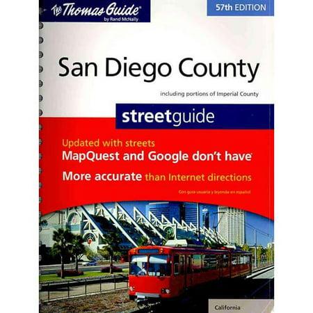 The Thomas Guide San Diego County Street Guide - Walmart.com